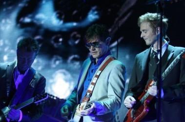 Группа в сборе. Клавишник Магне Фурухольмен, вокалист Мортен Харкет и гитарист Пол Воктор-Савой. Фото: Г. Салай