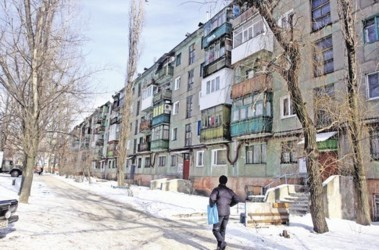Хрущевка в Горловке. Волошин жил в простой квартире на пятом этаже. Здесь взрывчатку не нашли. Фото А. Дудуш