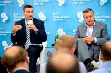 Гриценко и Кличко ведут переговоры об объединении. Фото argumentua.com