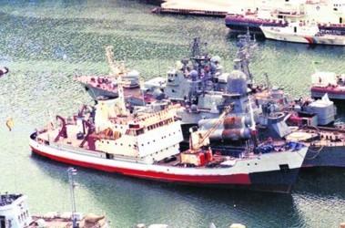 «Память Меркурия». Из военного корабля в 1995 году стал грузовым, но использовался и как пассажирский. Фото: hidrografia.ru