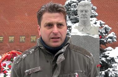 Правнук Сталина - за восстановление памятника деду. Фото с сайта sniper-rkka.livejournal.com