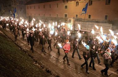 Тягнибок готовит новый митинг. Фото AFP