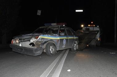 Водителем «девятки» оказался прапорщик милиции. Фото: roadcontrol.kh.ua