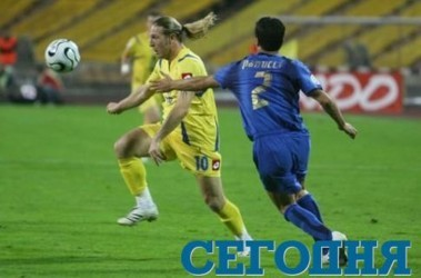 В матче с итальянцами Воронин не блистал. Фото Ю. Кузнецова