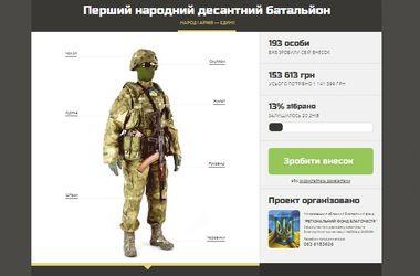 Активисты собирают деньги на амуницию для десантников. Скрин-шот с:narodniy.org.ua