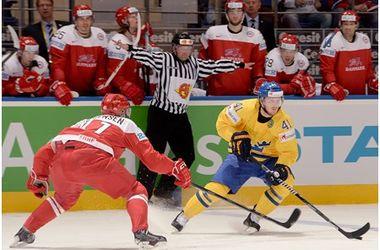 Швеция - Дания 3:0. Фото iihf.com