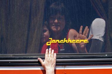 """Боевики """"ДНР"""" захватили автобус с детьми из Снежного. Фото: AFP"""