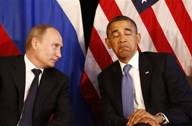 Путин призвал Обаму к сотрудничеству ради благополучия всего мира. Фото: AFP