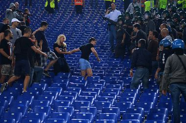 Росіяни на матчі в Римі. фото