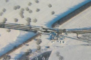 Обстрел блокпоста под Волновахой. Фото: ОБСЕ