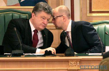 Президент Петро Порошенко і прем'єр-міністр Арсеній Яценюк
