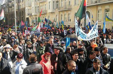 """Шахтеры вышли на митинг. Фото: А.Черкашин, """"Сегодня.ua"""""""