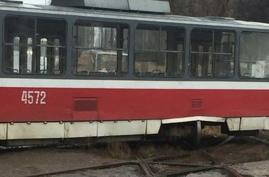 Дрифт трамвая. Фото: соцсети