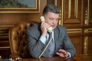 Петр Порошенко побеседовал с Пан Ги Муном. Фото: president.gov.ua