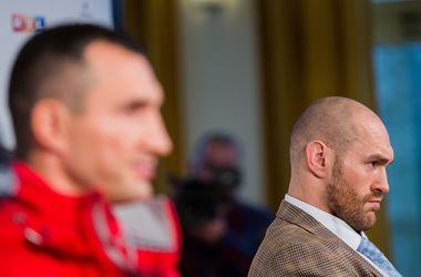 Владимир Кличко и Тайсон Фьюри. Фото AFP