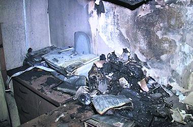 Кабінет судді. У будівлі суду згоріли меблі та оргтехніка. Фото: ГУ НП Києва