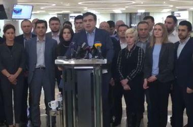 Прес-конференція Саакашвілі.Фото: facebook.com/SaakashviliMikheil