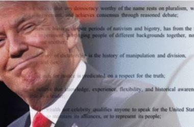 Письменники ополчилися проти Трампа. Фото: ipetitions.com