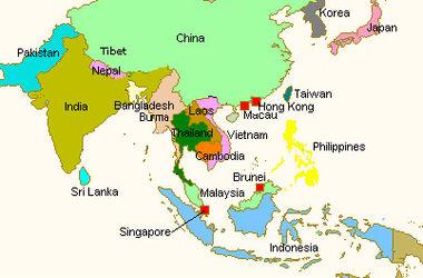 Украина настроилась на активную торговлю со странами Азии. Карта: dengivsetakipahnyt.com