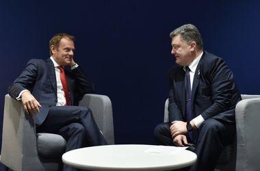 Дональд Туск и Петр Порошенко. Фото: twitter