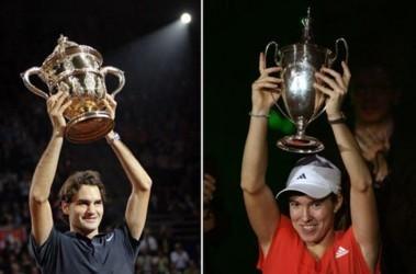 Роджер Федерер и Жюстин Энин. Спортсмены года по версии AIPS