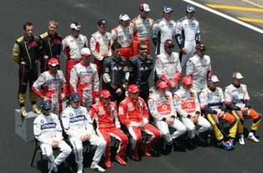 Формула-1. Таким составом пилотов завершался сезон-2007. Фото AFP