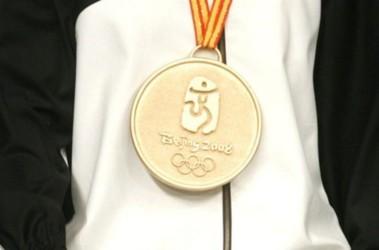 Олимпийская медель. В Играх в Пекине-2008 награды будут из специально добытого нефрита. Фото AFP