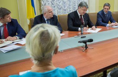 Порошенко подав у Раду законопроект про захист ошуканих вкладників банків. Фото: president.gov.ua
