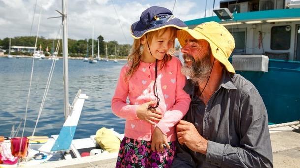 Алан Ленгдон разом з дочкою. Фото Грега Нельсона. Фото: ABC