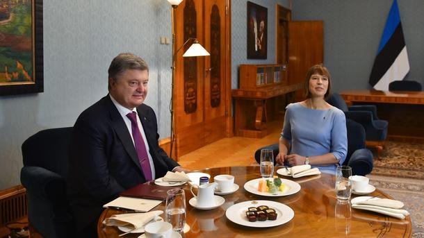 Петр Порошенко и Керсти Кальюлайд. Фото: President.gov.ua