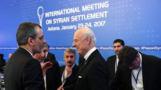 Переговоры в Астане. Фото: AFP