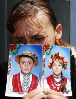 Елена Иваночко. Стихия отняла детей. Фото AFP