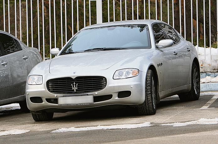 То самое авто. На покупку этого серебристого Maserati год назад Милевский потратил $220 тысяч