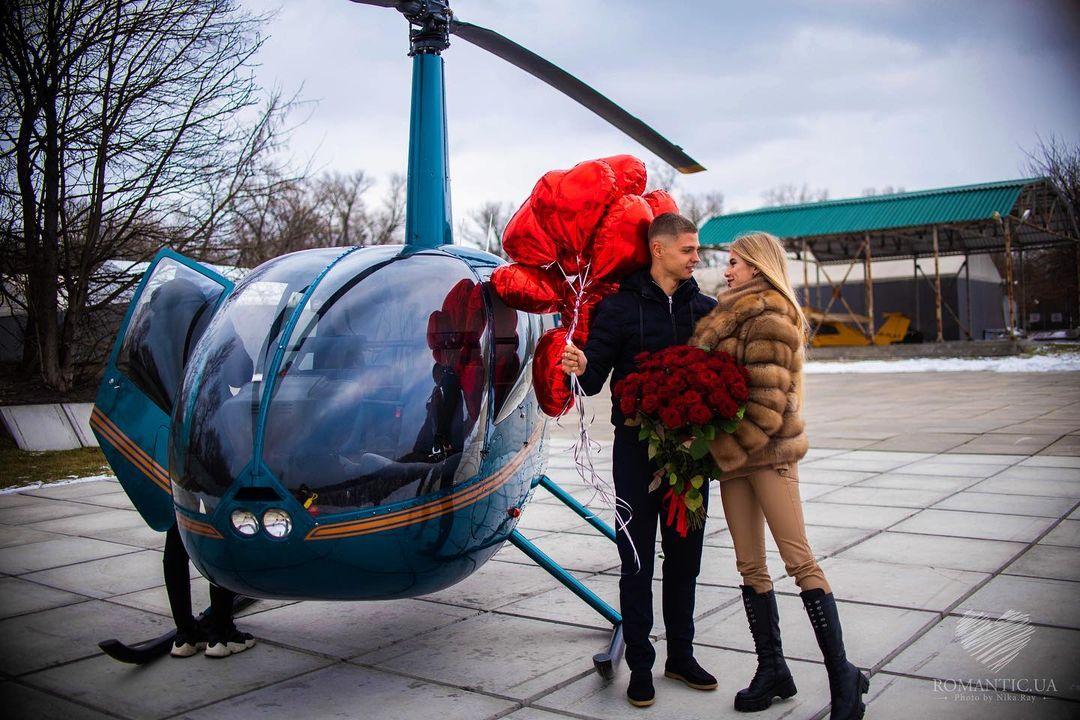 Лидер Шахтера подарил своей девушке прогулку на вертолете (фото)