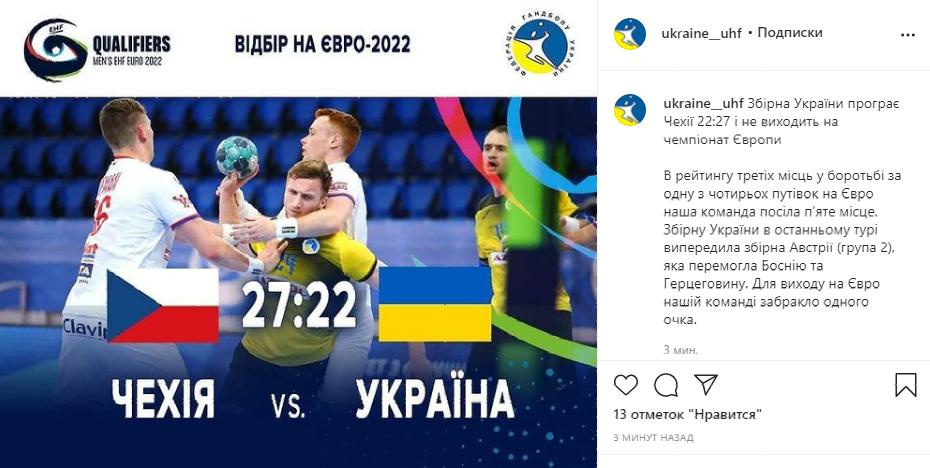 Сборная Украины с эпическим фейлом вышла на Евро-2022 по гандболу (фото)