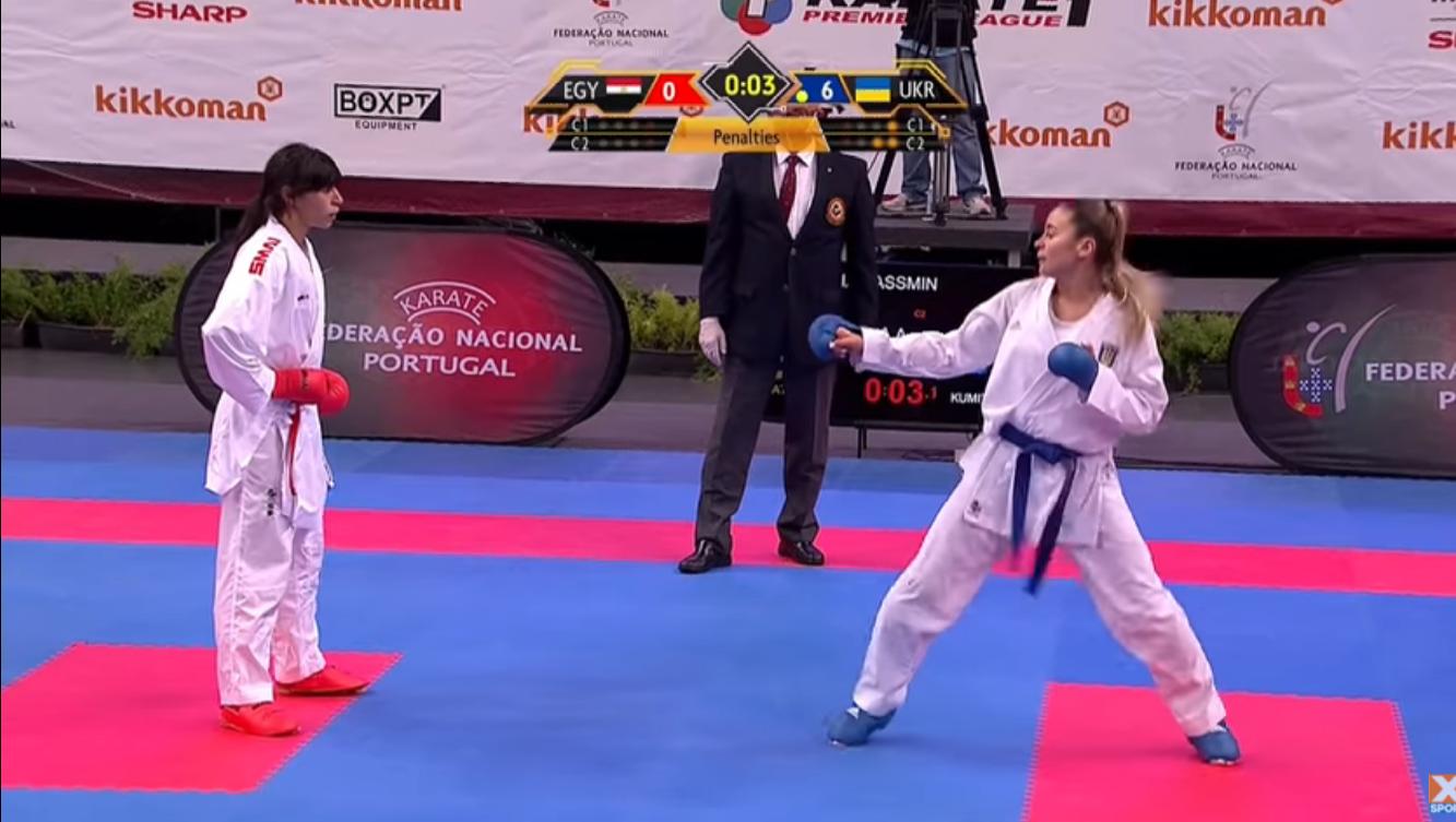 Секс-символ украинского спорта выиграла золото в Португалии, уничтожив каратистку из Египта