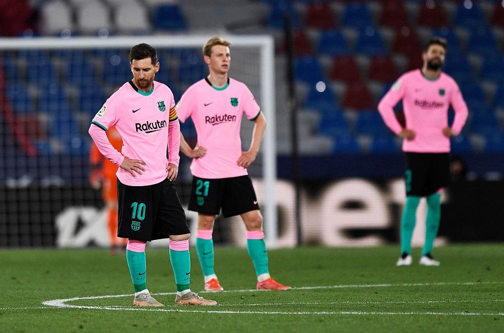 Из-за фейла Месси Барселона выбыла из чемпионской гонки: обзор фатальных 3:3 с Леванте